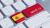 Spain  Send CV Concept — Stockfoto