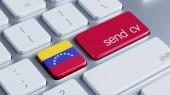 Venezuela  Send CV Concept — Foto Stock