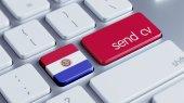Paraguay  Send CV Concept — Foto Stock