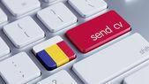 Romania  Send CV Concept — Stockfoto