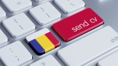 Romania  Send CV Concept — Foto Stock