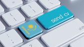 Kazakhstan  Send CV Concept — Foto Stock