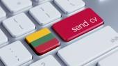 Lithuania  Send CV Concept — Stockfoto