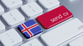 Iceland  Send CV Concept — Foto Stock