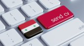 Syria  Send CV Concept — Stockfoto