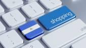 Nicaragua Shopping Concept — Foto Stock