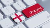 England Shopping Concept — Foto Stock