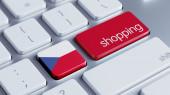 Czech Republic Shopping Concept — Foto Stock