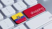 Ecuador Keyboard Concept — Stockfoto