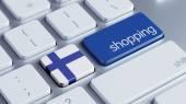 Finland Shopping Concept — Foto Stock