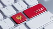 Concetto Smart Montenegro — Foto Stock