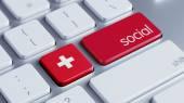 Switzerland Social Concept — Stock Photo