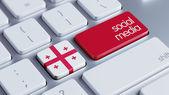 Georgia Social Media Concept — Stockfoto