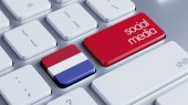 Netherlands Social Media Concept — Stock Photo