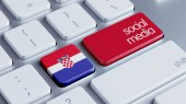 Croatia Social Media  Concept — Stock Photo