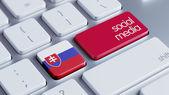 Slovakia Social Media Concept — Stock Photo