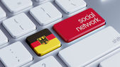 Germany Social Network Concep — Stock Photo