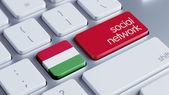 Hungary Social Network Concep — Foto de Stock