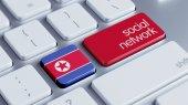 朝鲜社会网络概念 — 图库照片