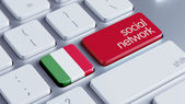 Italy Social Network Concep — Stock Photo