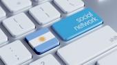 Argentina Social Network Concep — Zdjęcie stockowe