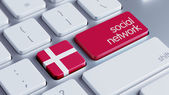 Denmark Social Network Concep — Stock Photo