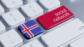 Iceland Social Network Concep — Stock Photo