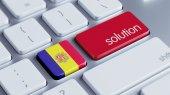 Andorra Solution Concept — 图库照片