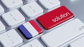 Понятие решения Франции — Стоковое фото