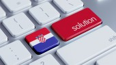 Croatia Solution Concept — Stock Photo