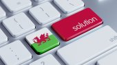 Wales Solution Concept — Stock Photo