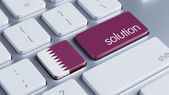 Qatar Solution Concept — Stock Photo