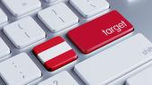 Oostenrijk Target Concept — Stockfoto