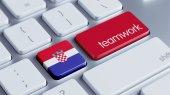 Croatia Teamwork Concept — Стоковое фото