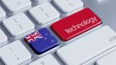New Zealand Technology Concept — Stock Photo