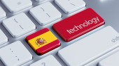 Spain Technology Concept — Stockfoto