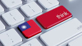Taiwan Think Concept — Stock Photo