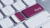 Qatar Think Concept — Stock Photo