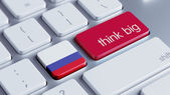 Russia Think Big Concept — Stock Photo