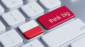 Poland Think Big Concept — Stock Photo