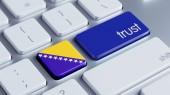 Bosnia and Herzegovin  Trust Concept — Stock Photo