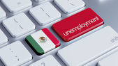 Mexican Flag Unemployment Concept — Stock Photo