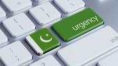 Pakistan  Urgency Concept — Stock Photo