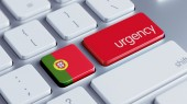 Portugal  Urgency Concept — Stock Photo