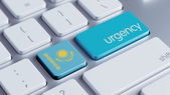 Kazakhstan  Urgency Concept — Stock Photo