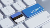 Estonia  Urgency Concept — Stock Photo