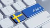 Sweden Victory Concept — Foto de Stock