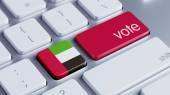 United Arab Emirate  Vote Concept — Stock Photo