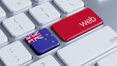 New Zealand Web Concept — Stock Photo