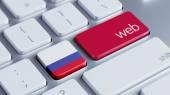 Conceito de Web de Rússia — Fotografia Stock